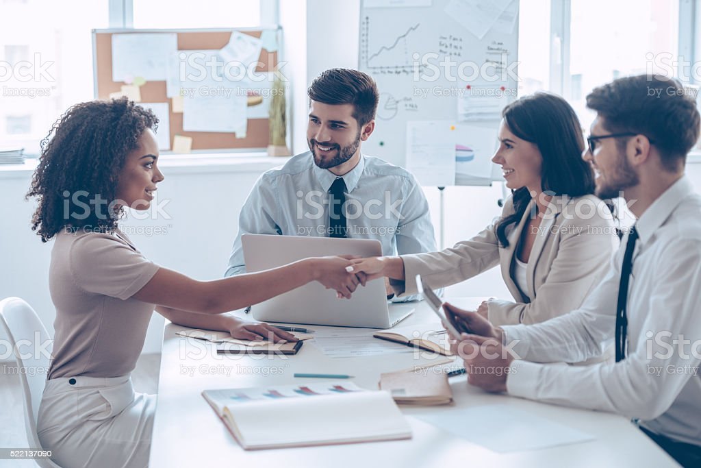 You are hired! stock photo