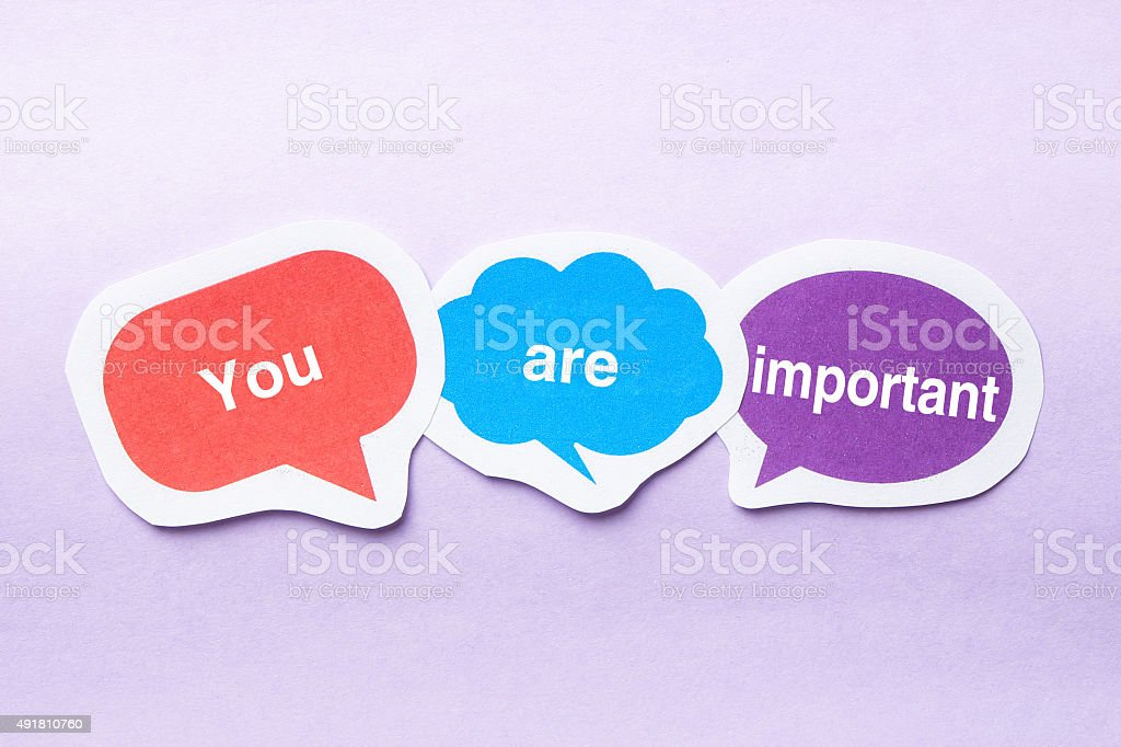 You are important stock photo