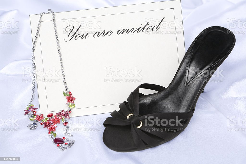 You are invited (lady) royalty-free stock photo