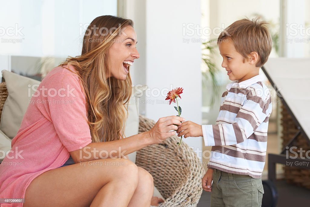 You are just the cutest little gentleman stock photo