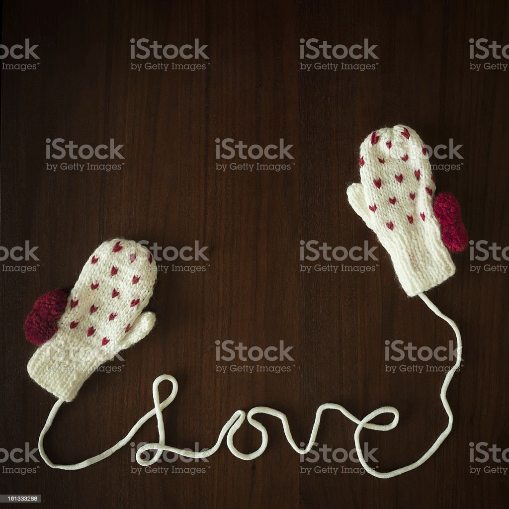 You are my warm gloves royalty-free stock photo