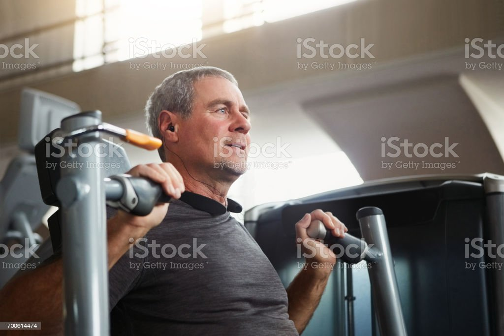 You are never too old to have fitness goals stock photo