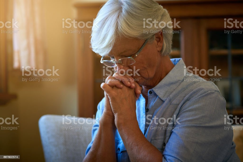 You are never truly alone if you have faith stock photo