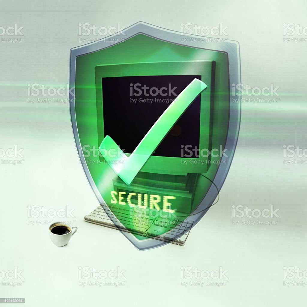 You are now fully protected stock photo