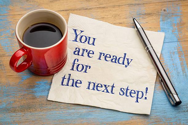 you are ready for the next step! - der nächste schritt stock-fotos und bilder