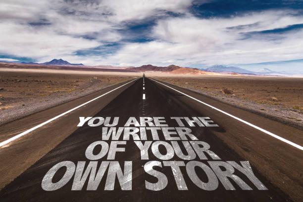 vous êtes l'auteur de votre propre histoire - étage photos et images de collection