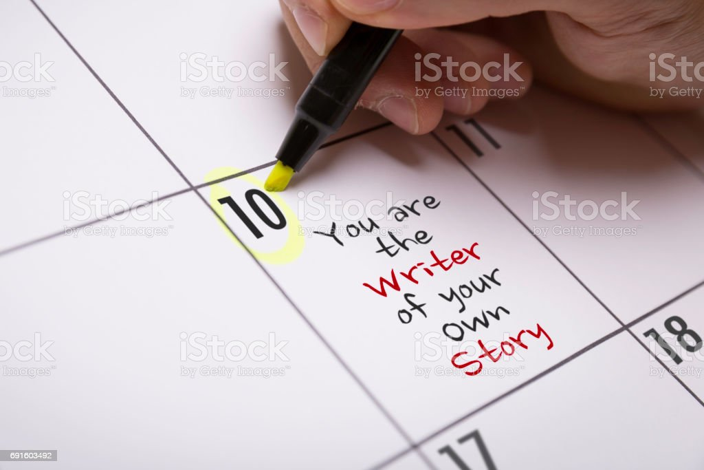 You Are the Writer of Your Own Story stock photo
