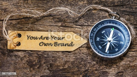 874270826 istock photo You Are Your Own Brand  blogging tips handwriting on label 541155778