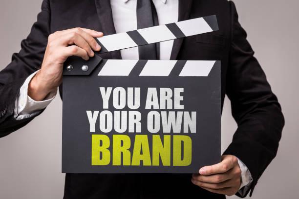 Eres tu propia marca - foto de stock