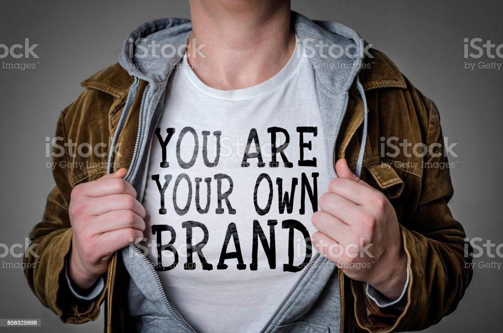 Você é sua própria marca - foto de acervo
