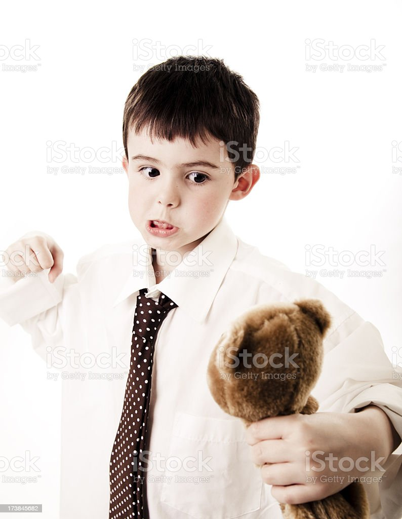 You betrayed me Teddy! royalty-free stock photo