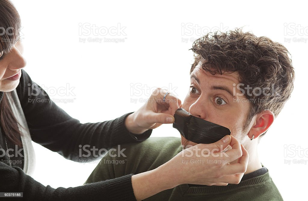You better shut up my dear! royalty-free stock photo