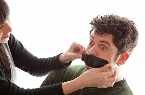 You better shut up my dear! stock photo