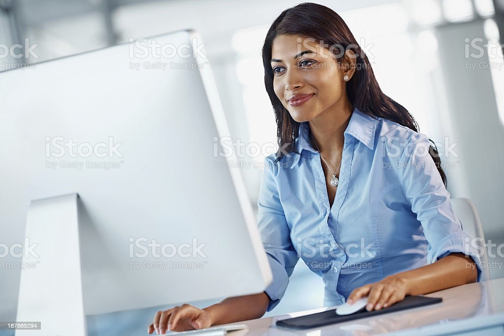 You can always find business solutions online stock photo