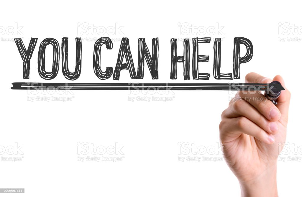 You Can Help stock photo
