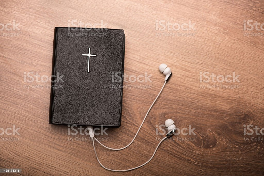 You can listen to your favorite psalms stock photo