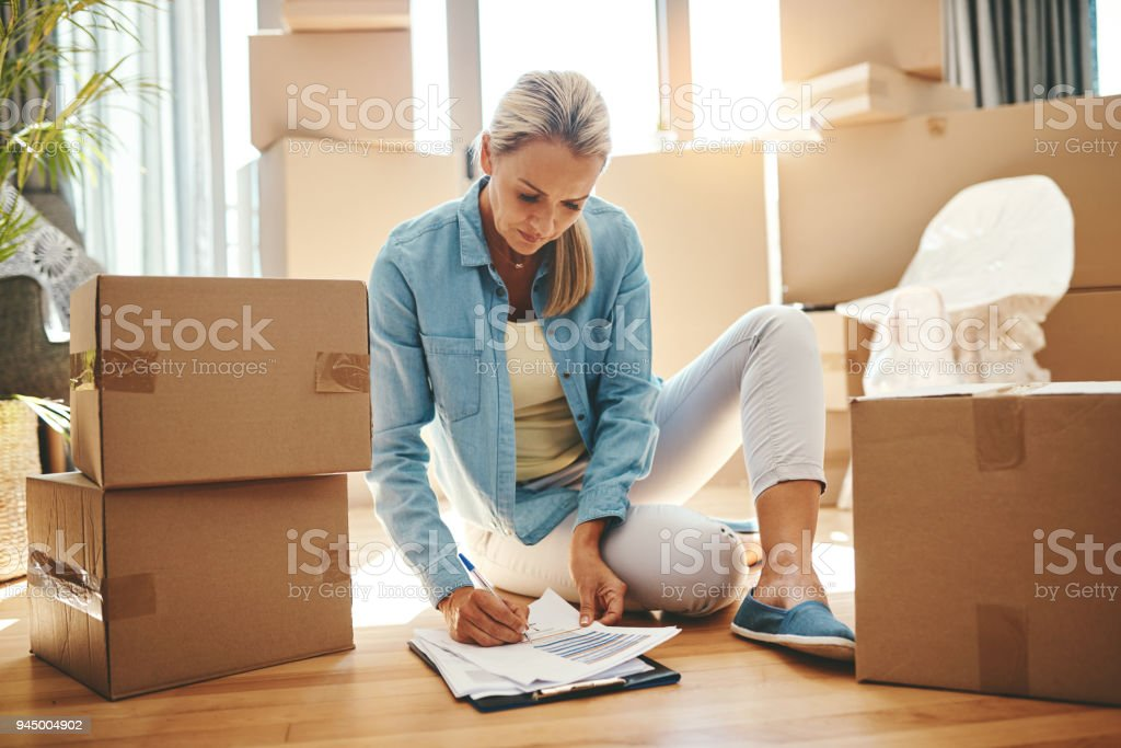 You can never be too organized on packing day stock photo