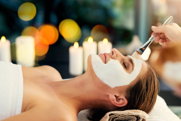 you can never have too many facials - chemical peel stock pictures, royalty-free photos & images