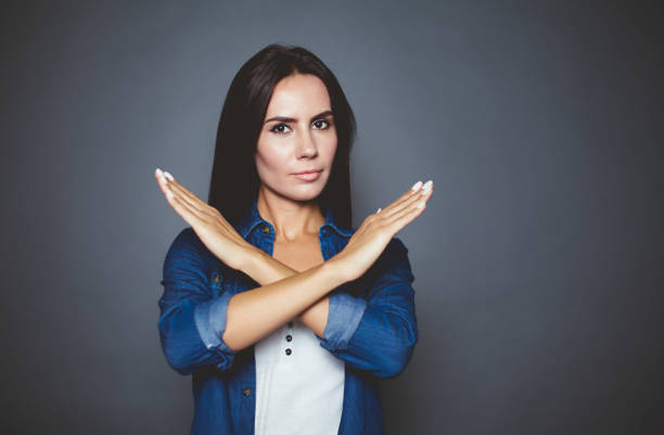 you can not. - gesturing stock pictures, royalty-free photos & images