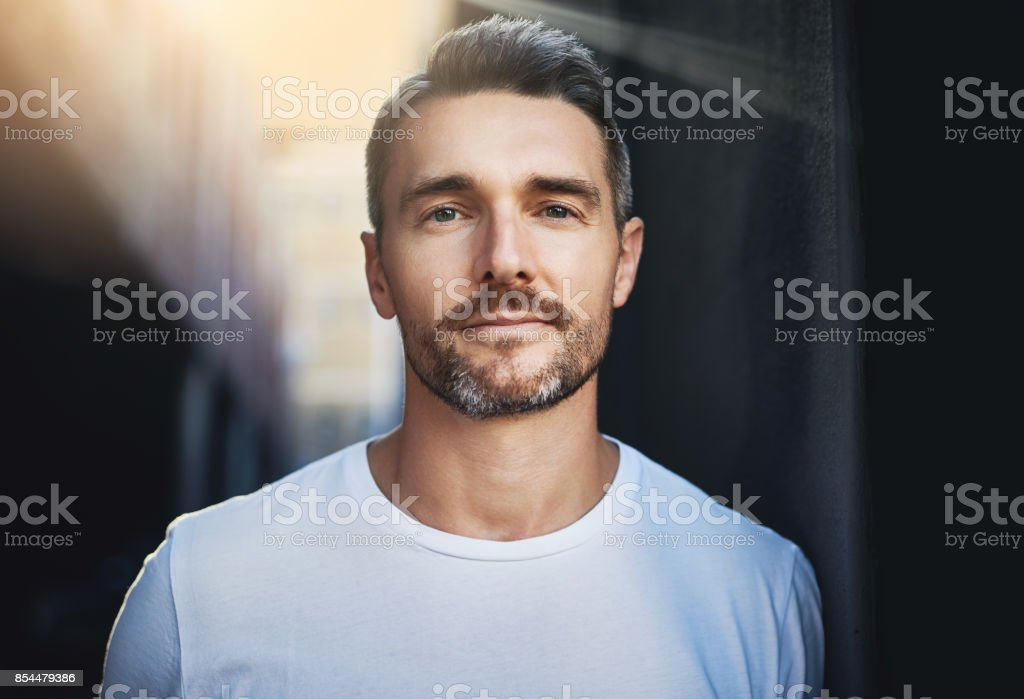You can see it in his eyes... stock photo
