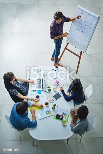 Shot of a young businessman giving a presentation in the boardroom