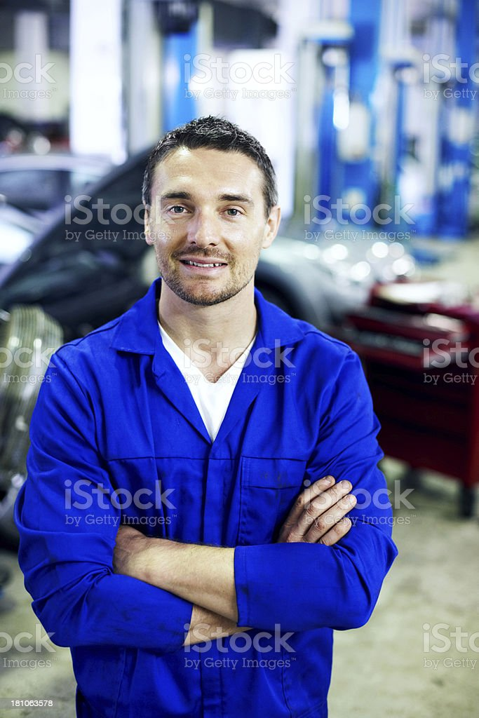 You can trust in his mechanical experience stock photo