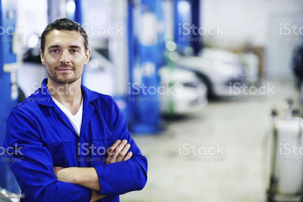 You can trust in his repair expertise stock photo