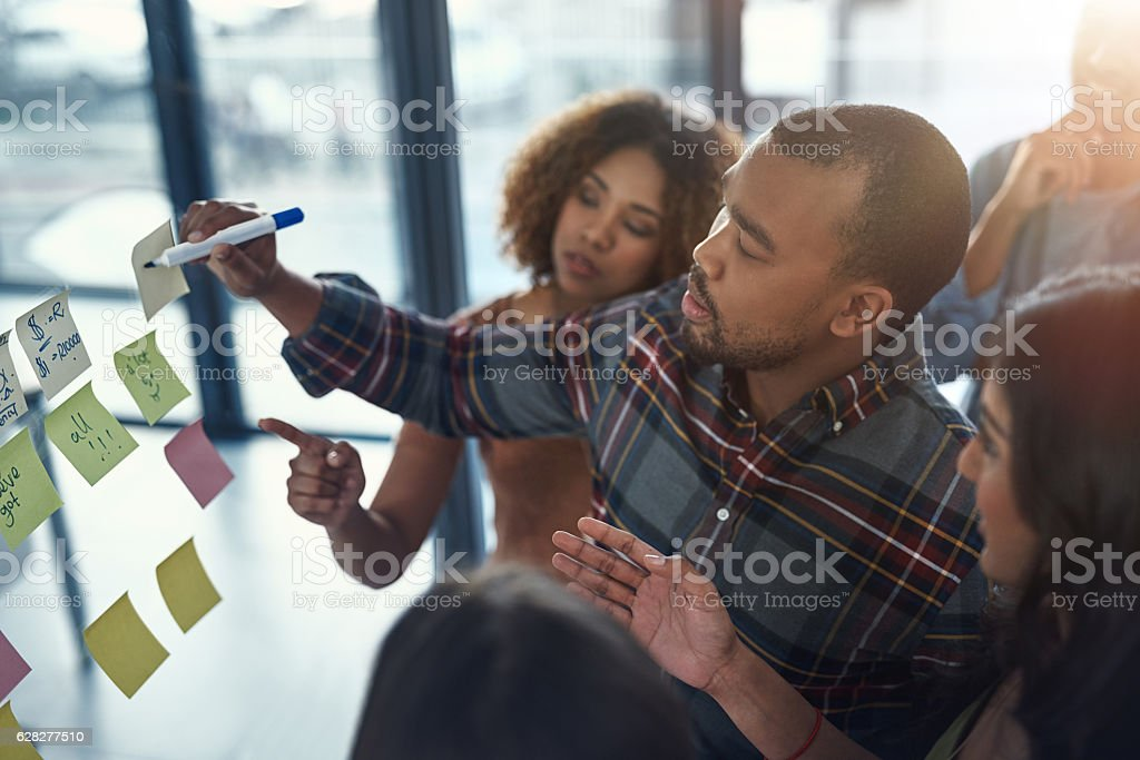 You can't be successful without a plan stock photo