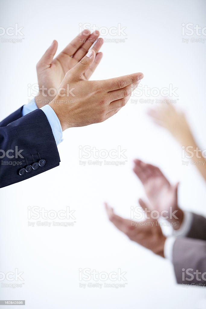 You deserve a standing ovation! royalty-free stock photo