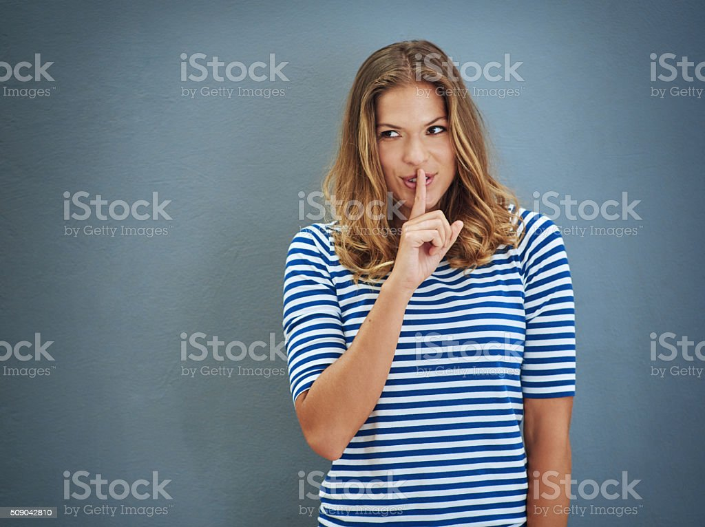 You didn't hear it from me... stock photo