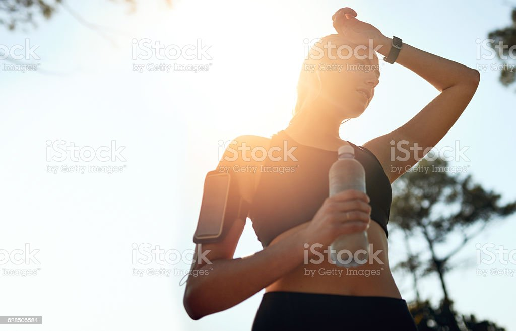 You don't always need a gym to break a sweat stock photo
