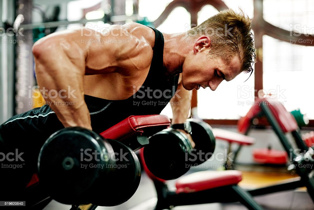 You don't find willpower, you create it stock photo