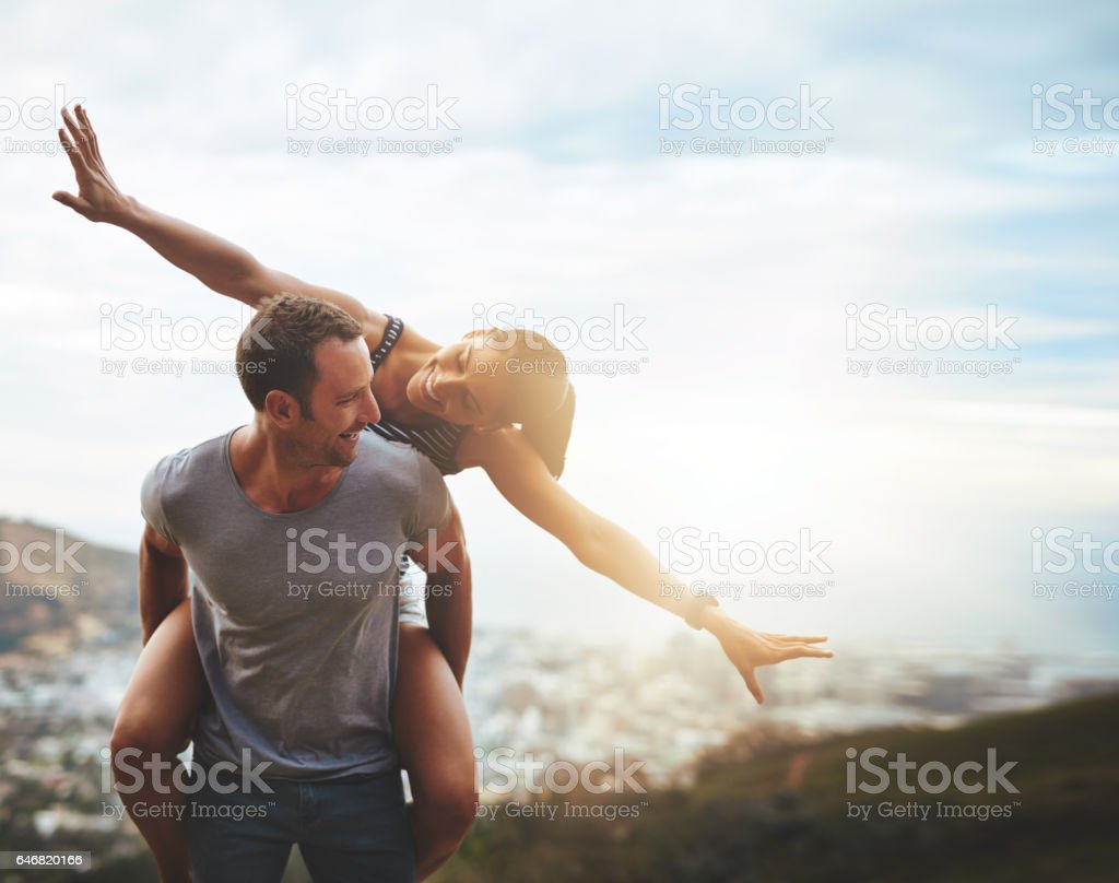 You don't lose freedom in love, you share it stock photo