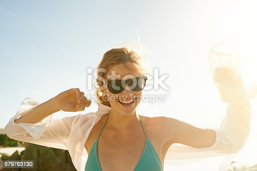 578302556 istock photo You don't need company to enjoy the weather or ocean 579763130