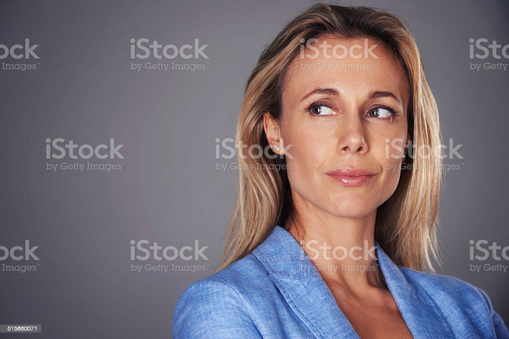 You don't want to get on her bad side stock photo