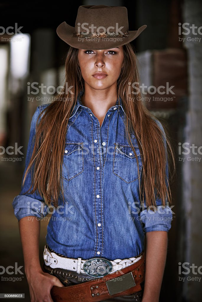 You don't want to mess with this cowgirl stock photo