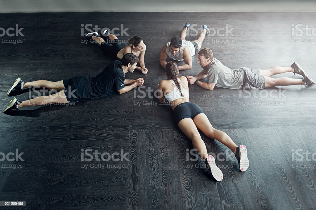 You get so much more out of your workout together photo libre de droits