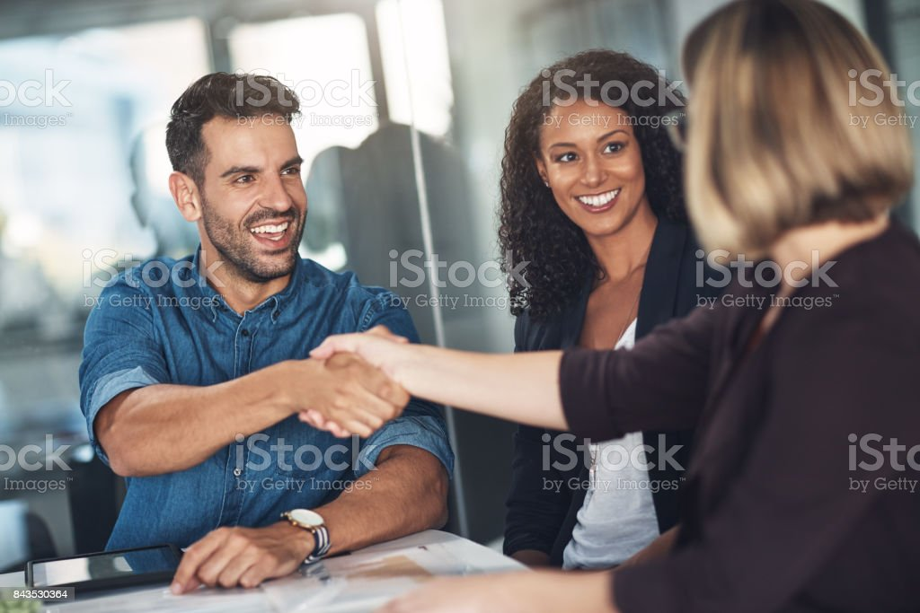 You get what you negotiate stock photo
