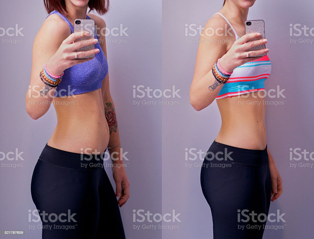 You gotta earn a body like this! stock photo