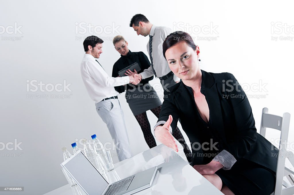 You have been accepted to the team! royalty-free stock photo