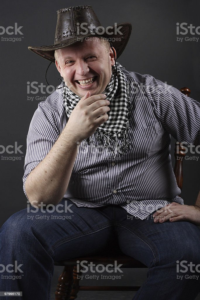 Man in a hat royalty-free stock photo