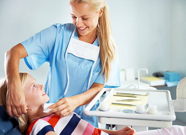 you have nothing to worry about - dental assistant stock photos and pictures