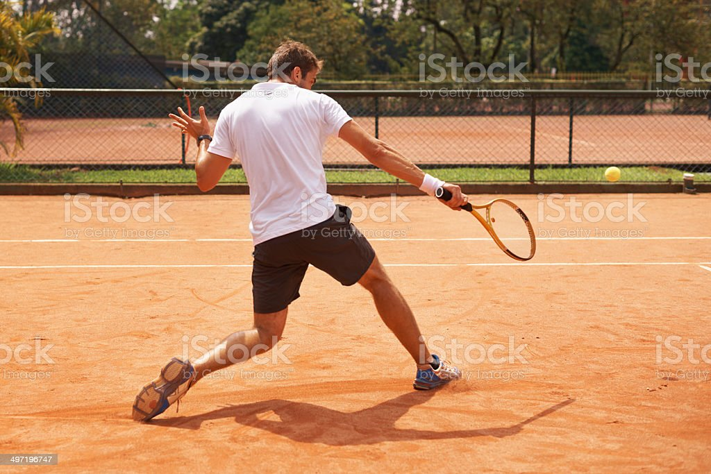 You have to be quick on the court stock photo
