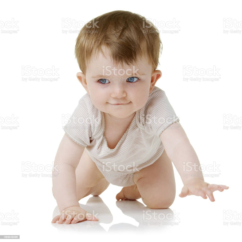 You have to crawl before walking royalty-free stock photo