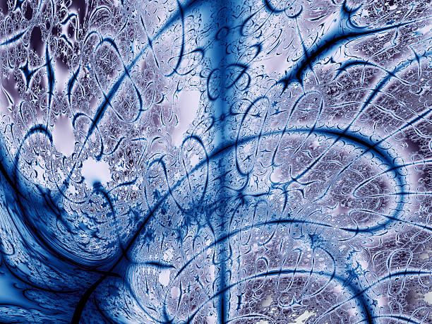 mad blue graffiti or disciplined fractal image - whiteway graffiti stock photos and pictures
