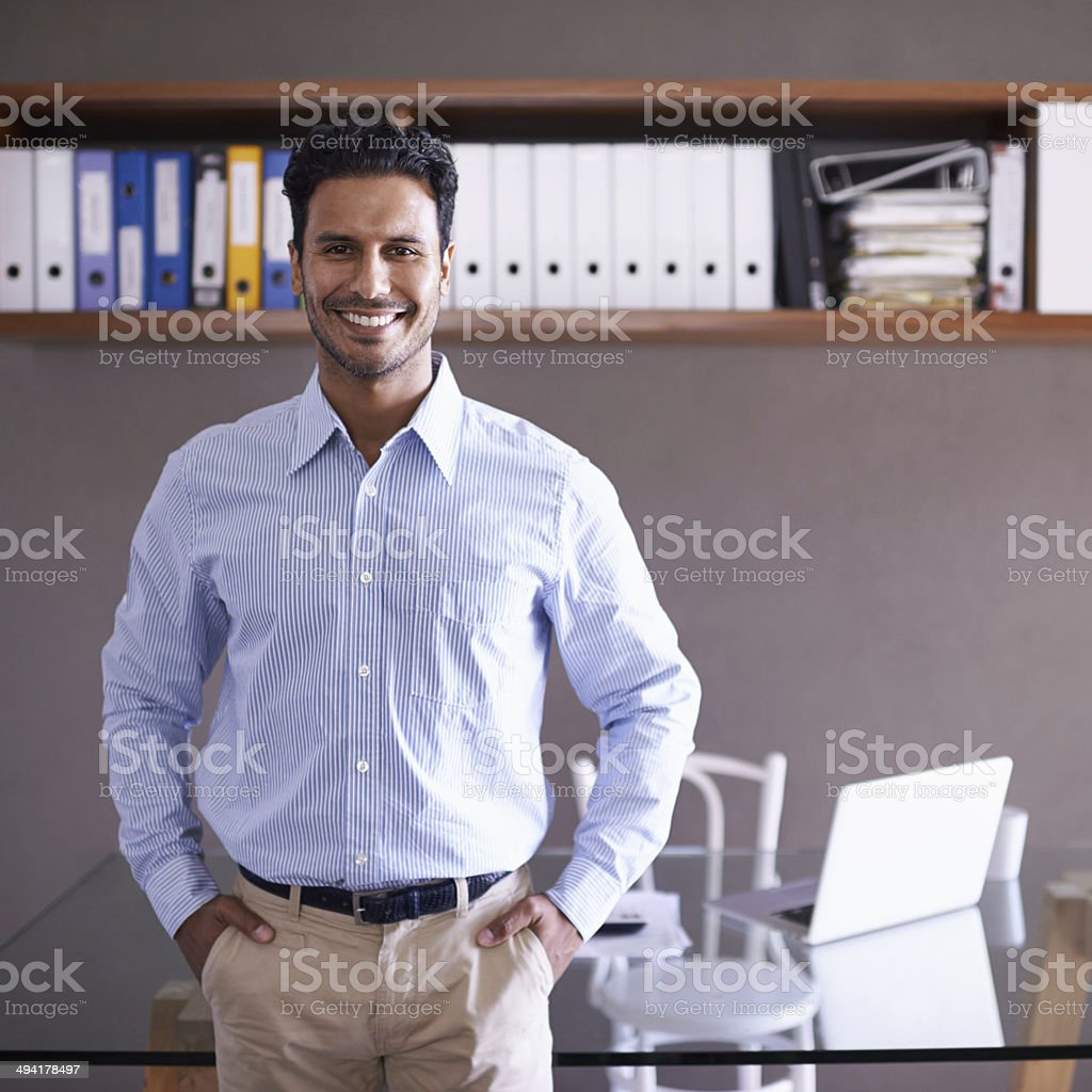 You know I'll get the job done stock photo