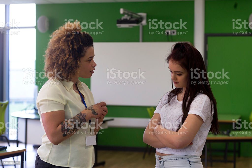 You need to start behaving in lessons stock photo