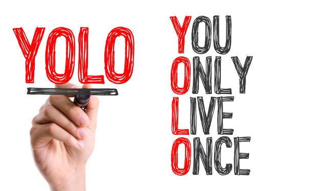 yolo-man nur einmal lebt - motivationsfitness zitate stock-fotos und bilder