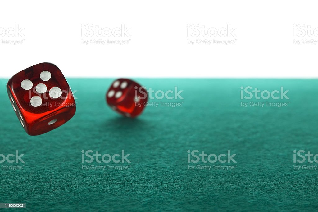 Dices rolling stock photo