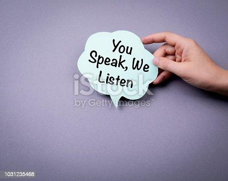 1031235468 istock photo You speak, we listen 1031235468